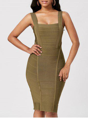 Criss Cross Back Bodycon Bandage Dress