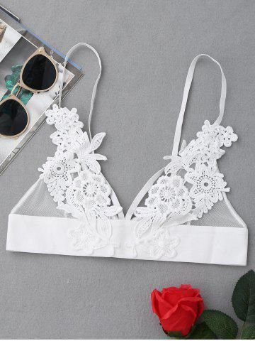 Outfit Applique Mesh Triangle Bralette