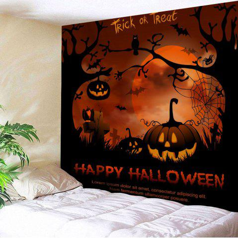 Shops Halloween Wall Hanging Decorative Tapestry - W79 INCH * L71 INCH GOLD BROWN Mobile