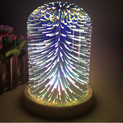 Discount 3D Colourful Firework Glass Shade Desk Lamp - COLORFUL  Mobile