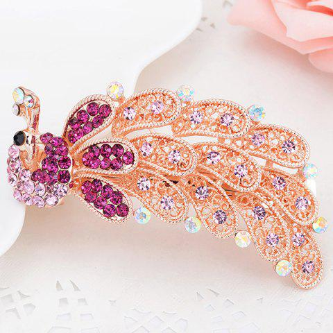 Shop Faux Crystal Inlaid Peacock Shape Barrette