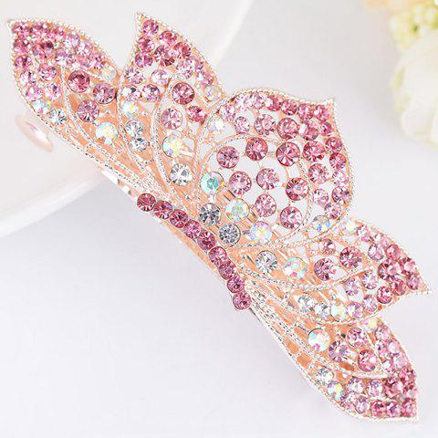 Affordable Lotus Shape Rhinestone Inlaid Barrette TUTTI FRUTTI