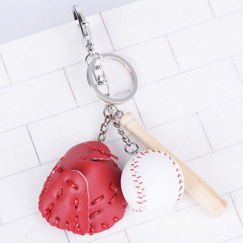 Tiny Cartoon Baseball Set Design Keyring