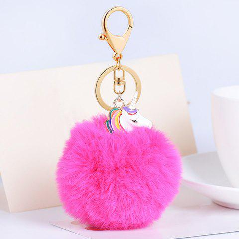 Fashion Pendant Pompon Puff Ball Keychain