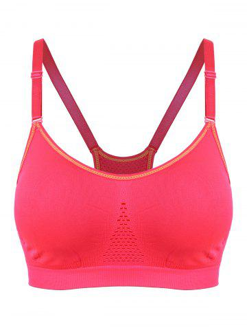 Trendy Adjustable Comfortable Sports Padded Bra RED L