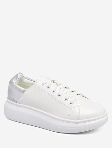 Outfit Two Tone Platform Sneakers - 37 SILVER Mobile