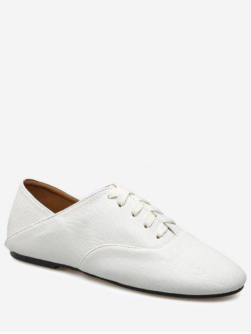 Outfits Faux Leather Slight Heel Sneakers WHITE 38