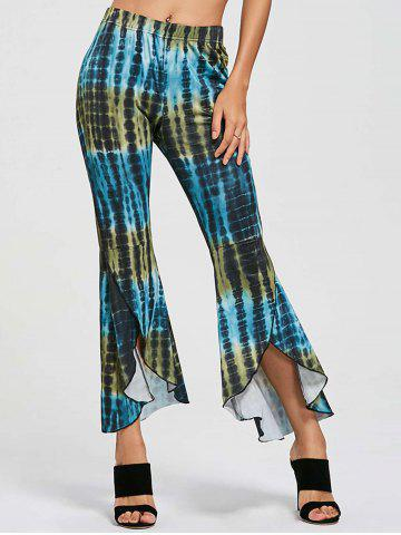 Fashion Cover Up Flare High Low Pants COLORMIX L