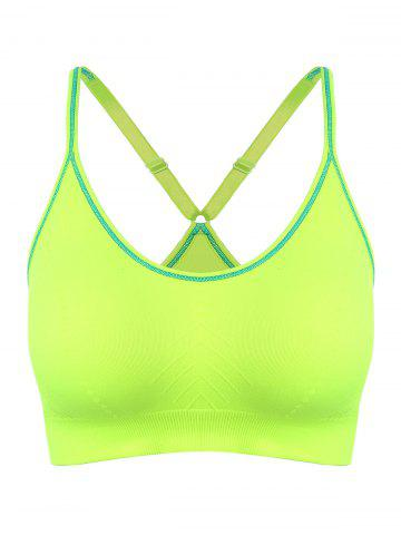 Fancy Adjustable Padded Sports Longline Racerback Bra