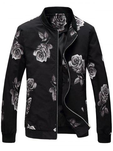 Veste de bombardière Zip Up Rose