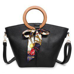 Scarf Top Handle Handbag