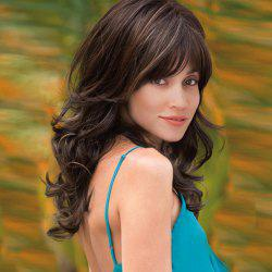 Long Side Bang Layered Wavy Colormix Synthetic Wig
