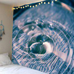 Waterproof Water Drop Pattern Wall Decoration Tapestry -
