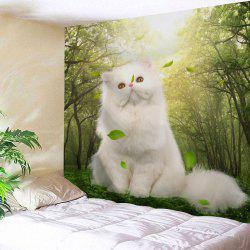 Wall Art Forest Elf Cat Print Tapestry