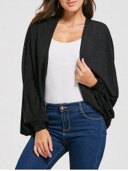 Draped Cardigan with Batwing Sleeve