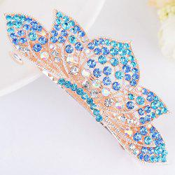 Lotus Shape Rhinestone Inlaid Barrette -