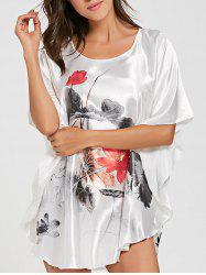 Batwing Sleeve Tunic Pajama Top