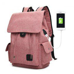USB Interface Drawstring Backpack