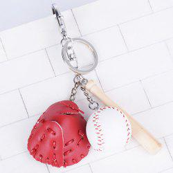 Tiny Cartoon Baseball Set Design Keyring -