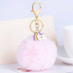 Pendentif Pompon Puff Ball Keychain - Rose Clair