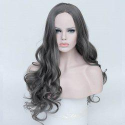 Long Center Parting Layered Curly Synthetic Wig
