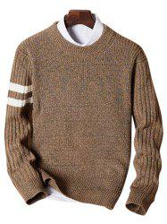 Crew Neck Heathered Striped Sweater