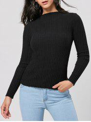 Long Sleeve Ribbed Pullover Sweater