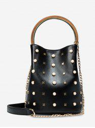 Faux Pearls Chain Bucket Bag