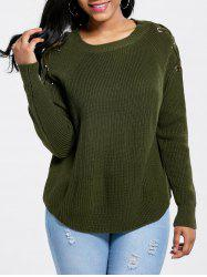 Raglan Sleeve Criss Cross Sweater