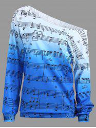 Musical Notes Printed Long Sleeves Sweatshirt