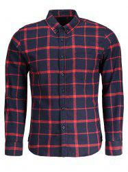 Button Down Checked Flannel Mens Shirt