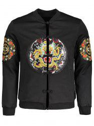 Embroidered Applique Mens Bomber Jacket