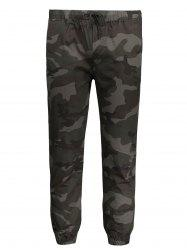 Camo Drawstring Mens Jogger Pants