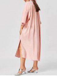 Plus Size Side Slit Shirt Dress