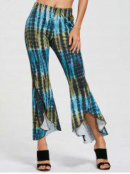 Cover Up Flare High Low Pants - COLORMIX L
