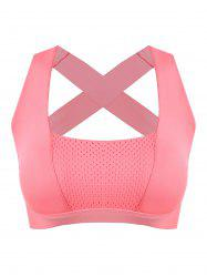 Padded Bandage Criss Cross Sports Bra -
