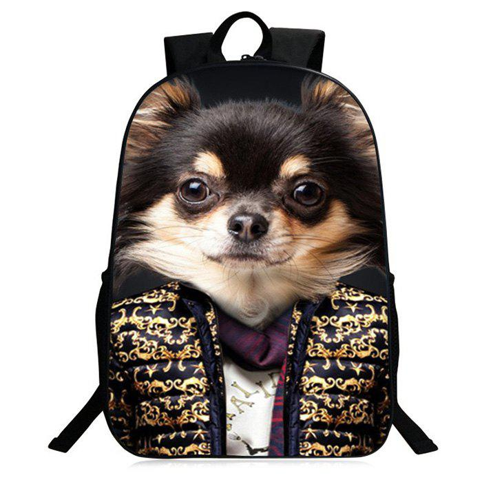 ef474cab4b Outfit Zipper 3D Animal Pattern Backpack