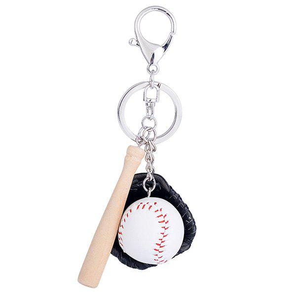 Unique Tiny Cartoon Baseball Set Design Keyring