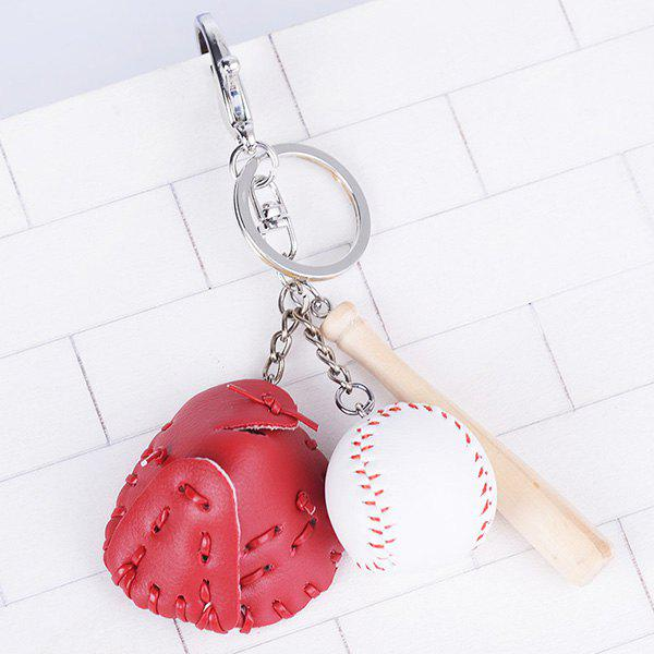 Outfit Tiny Cartoon Baseball Set Design Keyring