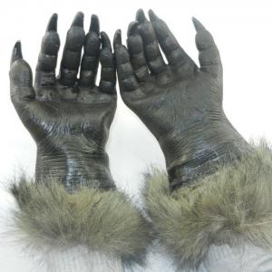 Halloween Party Accessories Wolf Claw Gloves - Black - One Size