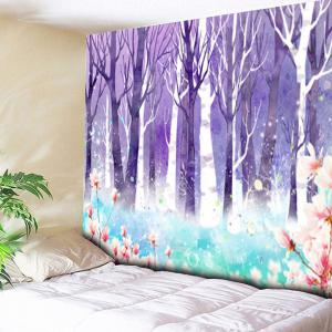 Forest Flower Wall Hanging Tapestry