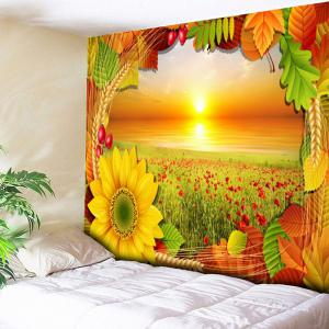 Flower Field Tapestry Chrysanthemum Wall Hanging