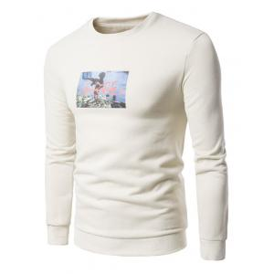 3D War Boy Print Fleece Sweatshirt