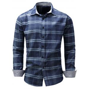 Long Sleeve Tartan Chambray Shirt