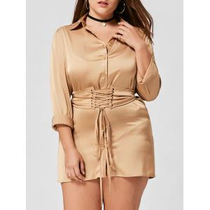 Long Sleeve Plus Size Shirt Dress