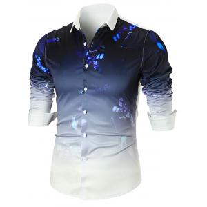 Splatter Paint Dip-dye Long Sleeve Shirt