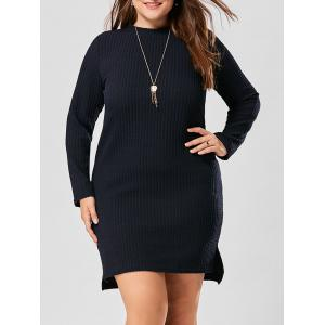 Ribbed Plus Size Tunic Long Sleeve Top