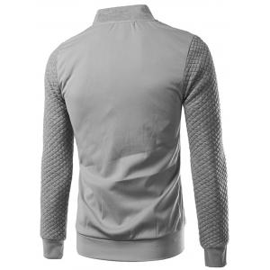 Rhombus Embossing Zip Up Jacket -