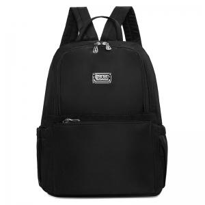 Zippers Double Pocket Nylon Backpack