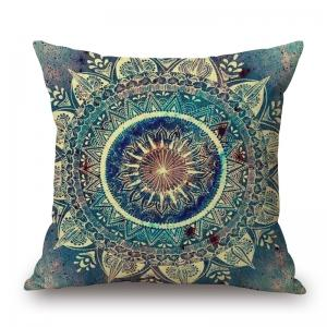 Mandala Decorative Linen Sofa Pillowcase - Colormix - W17.5 Inch * L17.5 Inch